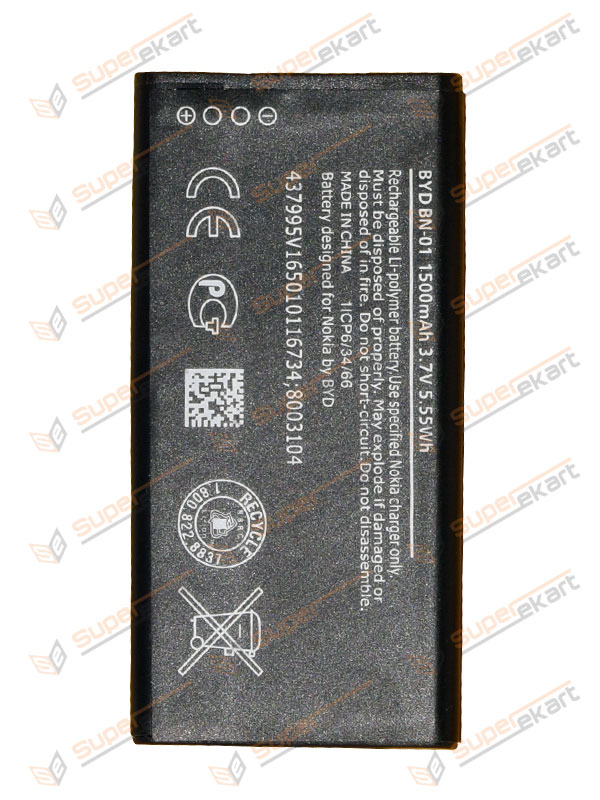 Superekart | Replacement BYD BN-01 Battery For Nokia X/X Plus/RM1053/RM980